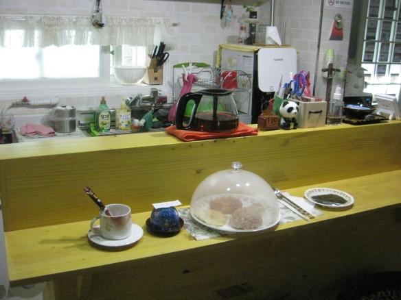 Frühstück im Geranium Ladies Guesthouse