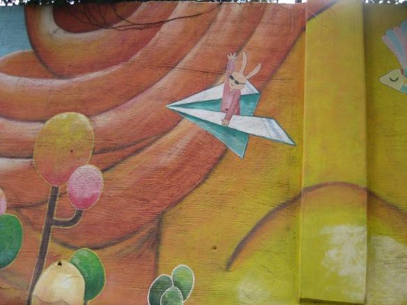 Wandmalerei im Ihwa Mural Village, Seoul