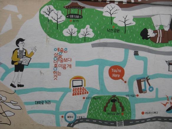 Wandmalerei im Ihwa Mural Village